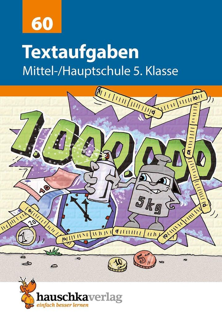 Textaufgaben Mittel-/Hauptschule 5. Klasse als Buch (geheftet)