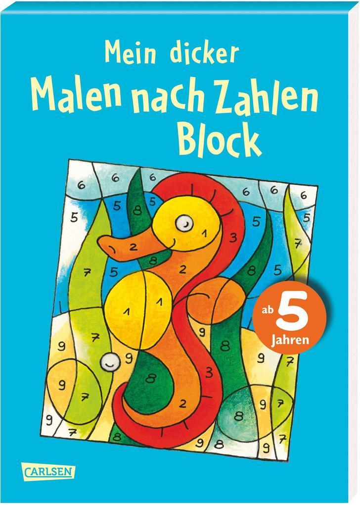 """Mein dicker """"Malen nach Zahlen"""" Block als Buch (kartoniert)"""