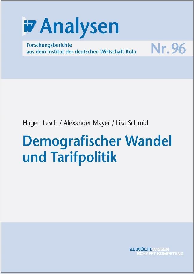 Demografischer Wandel und Tarifpolitik als eBook pdf