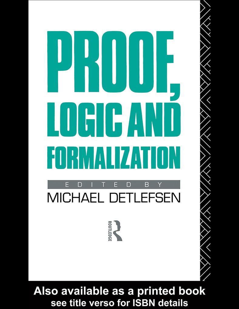 Proof, Logic and Formalization als eBook pdf