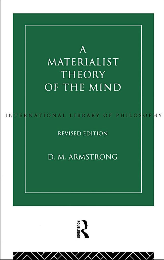 A Materialist Theory of the Mind als eBook epub