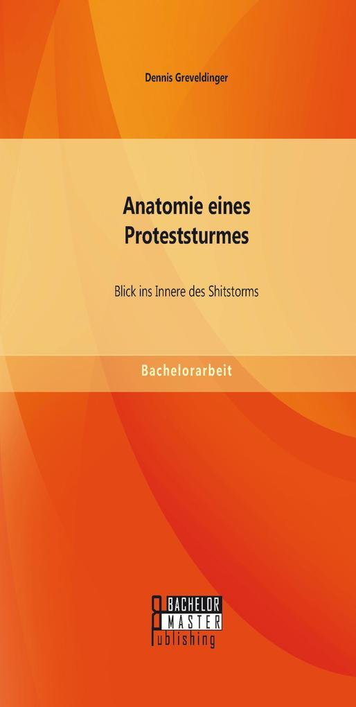 Anatomie eines Proteststurmes: Blick ins Innere des Shitstorms als eBook pdf