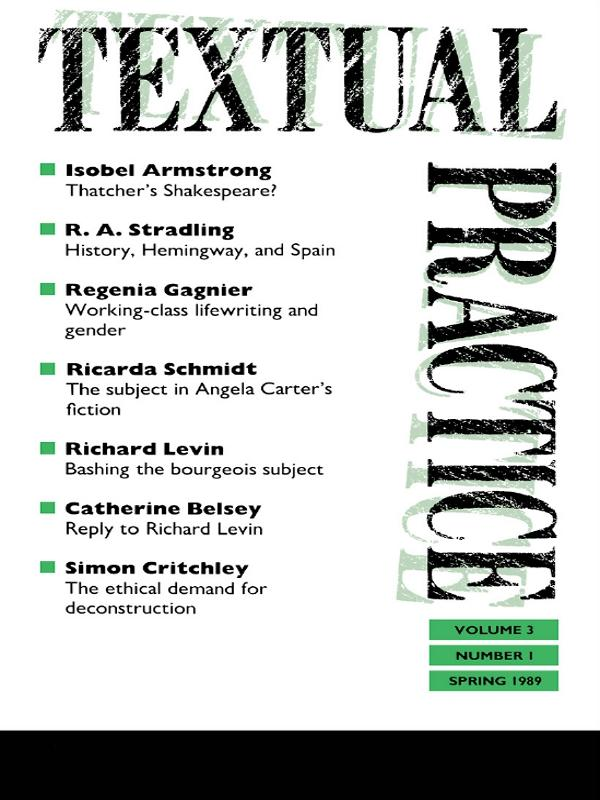 Textual Practice als eBook epub