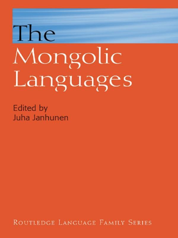 The Mongolic Languages als eBook epub