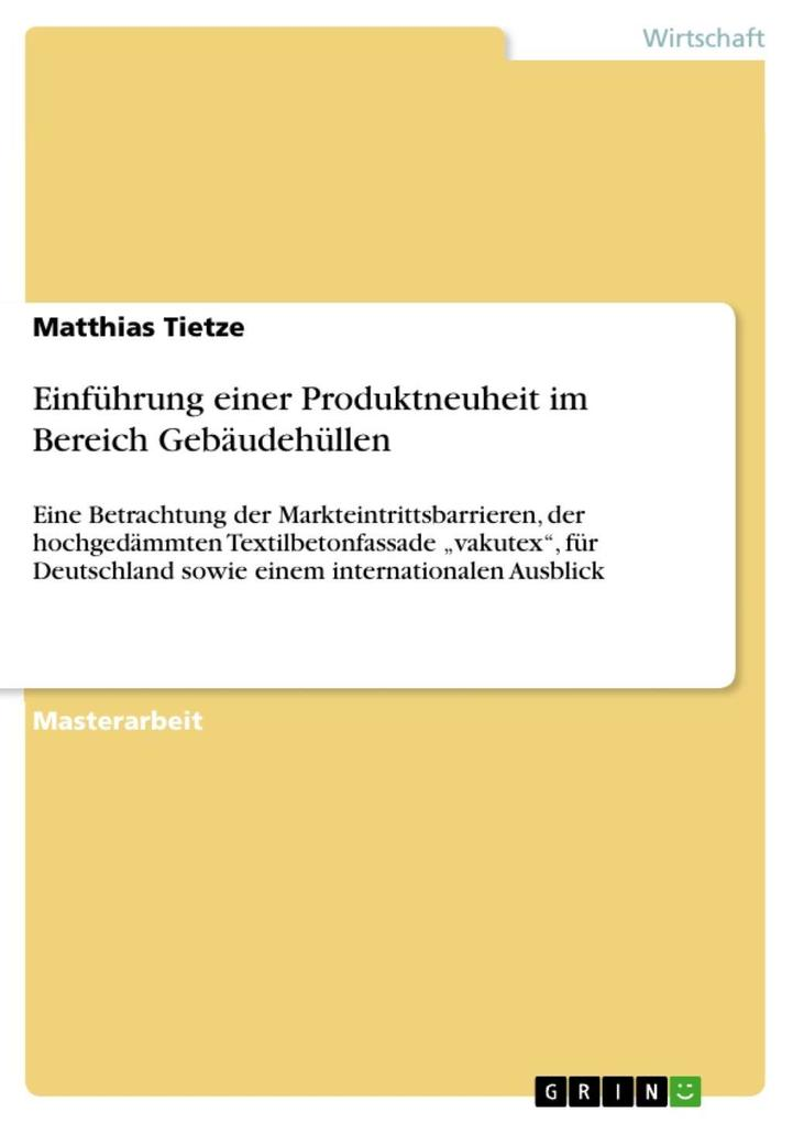 Einführung einer Produktneuheit im Bereich Gebäudehüllen als eBook epub