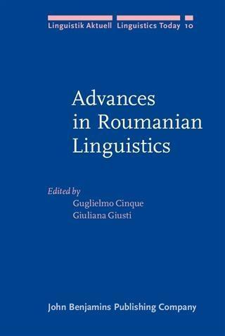 Advances in Roumanian Linguistics als eBook pdf