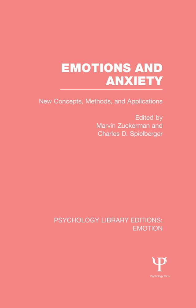 Emotions and Anxiety (PLE: Emotion) als eBook pdf