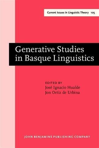 Generative Studies in Basque Linguistics als eBook pdf