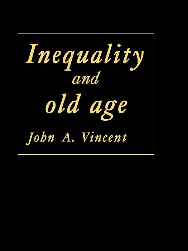 Inequality And Old Age als eBook epub