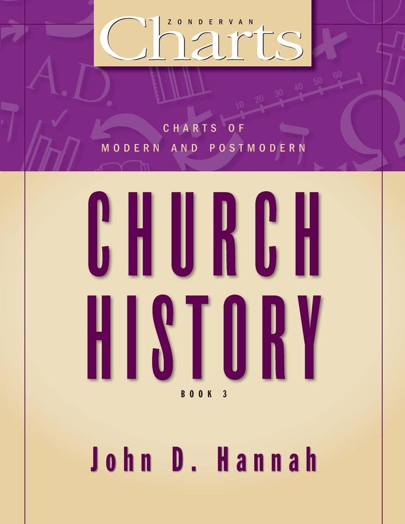 Charts of Modern and Postmodern Church History als Taschenbuch