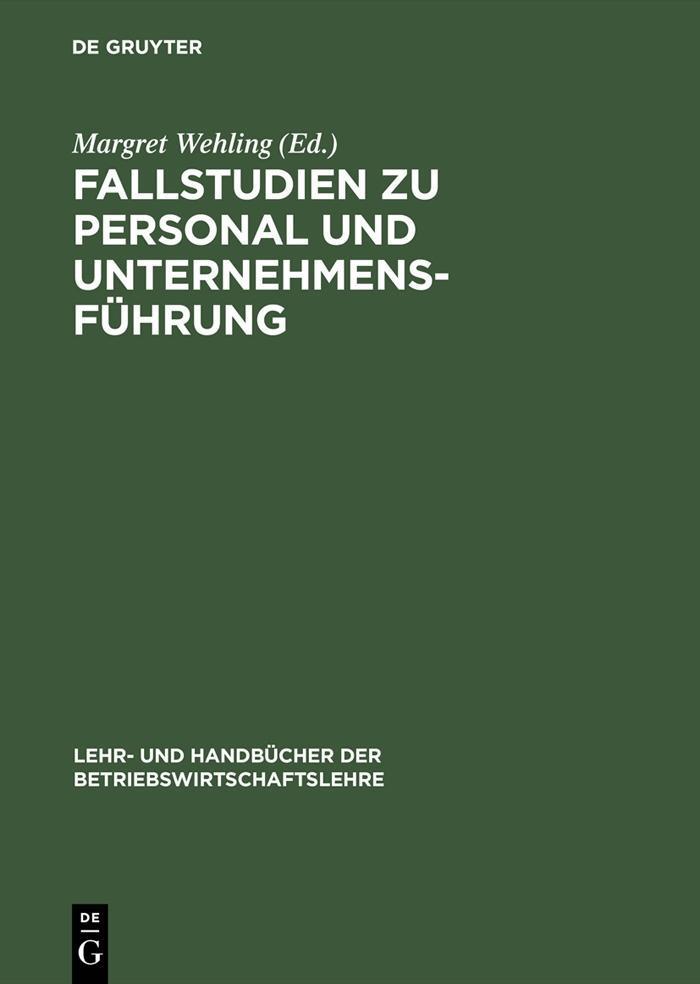 Fallstudien zu Personal und Unternehmensführung als eBook pdf