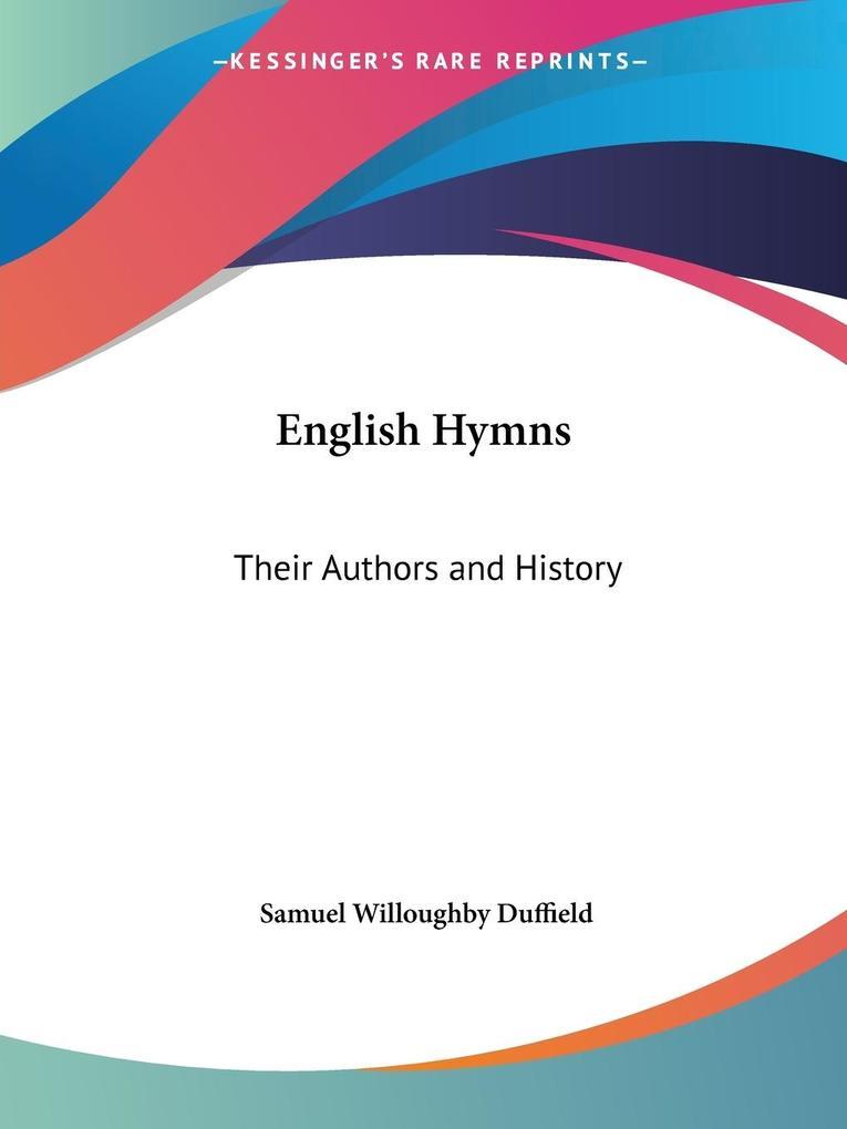 English Hymns als Taschenbuch