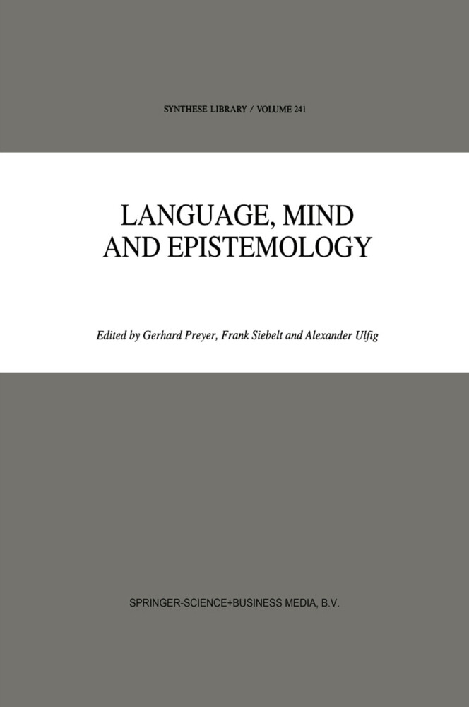 Language, Mind and Epistemology als Buch (gebunden)
