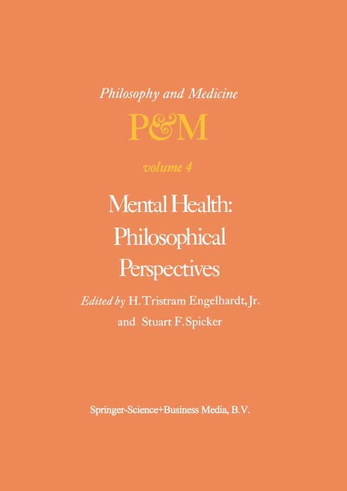 Mental Health: Philosophical Perspectives als Buch (gebunden)