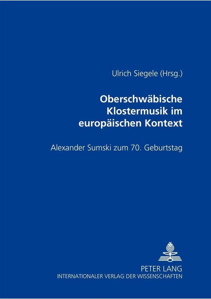 Oberschwäbische Klostermusik im europäischen Kontext als Buch (kartoniert)