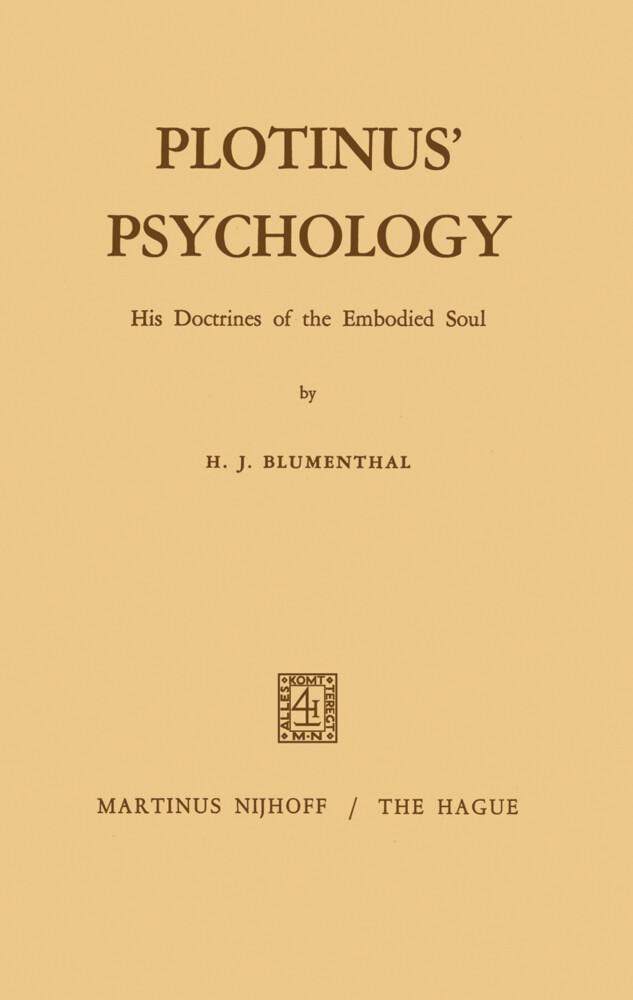Plotinus' Psychology als Buch (gebunden)
