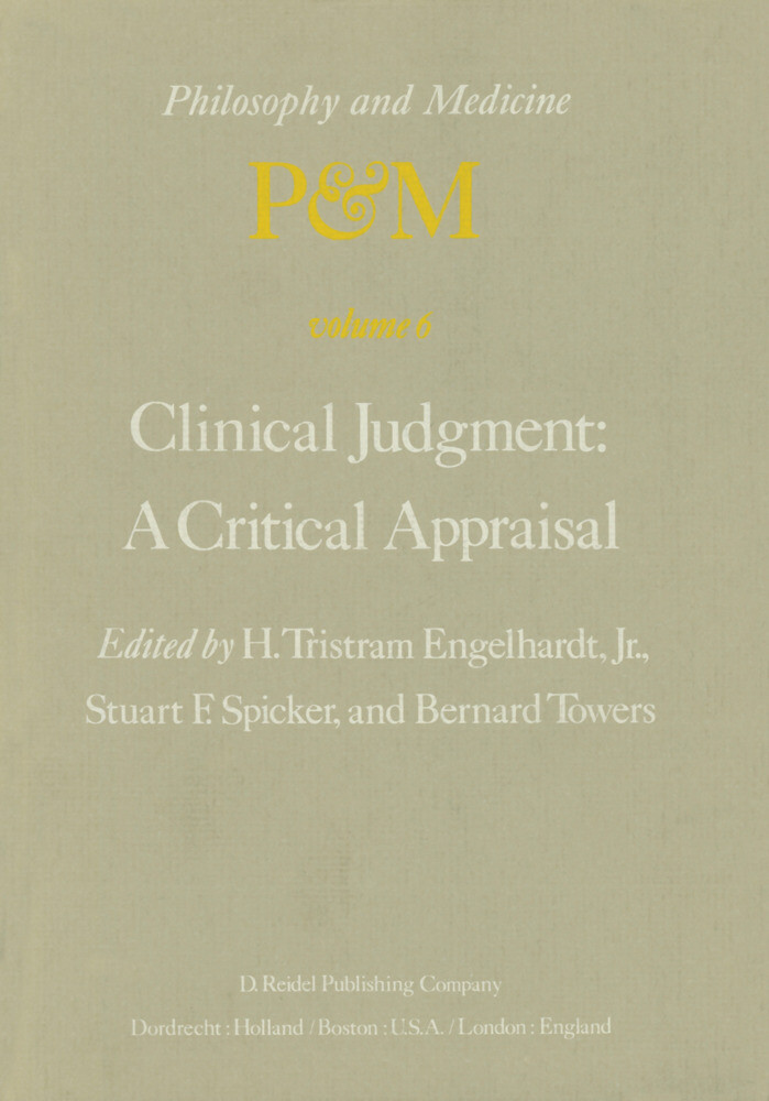 Clinical Judgment: A Critical Appraisal als Buch (gebunden)