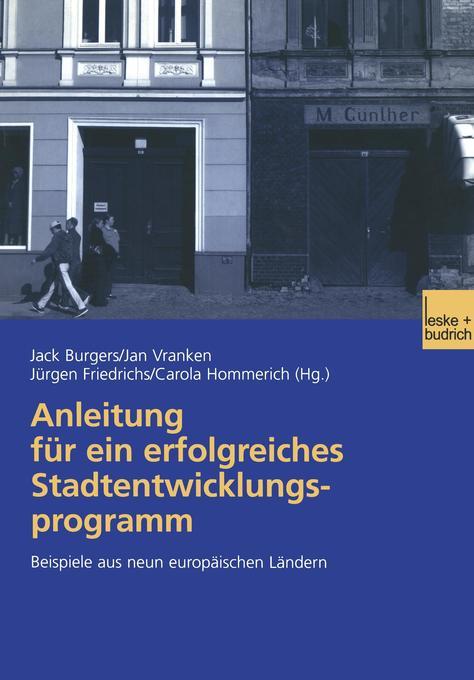 Anleitung für ein erfolgreiches Stadtentwicklungsprogramm als Buch (kartoniert)