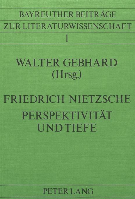 Friedrich Nietzsche- Perspektivität und Tiefe als Buch (kartoniert)