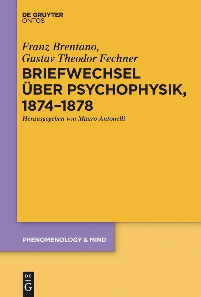 Briefwechsel über Psychophysik, 1874-1878 als eBook epub