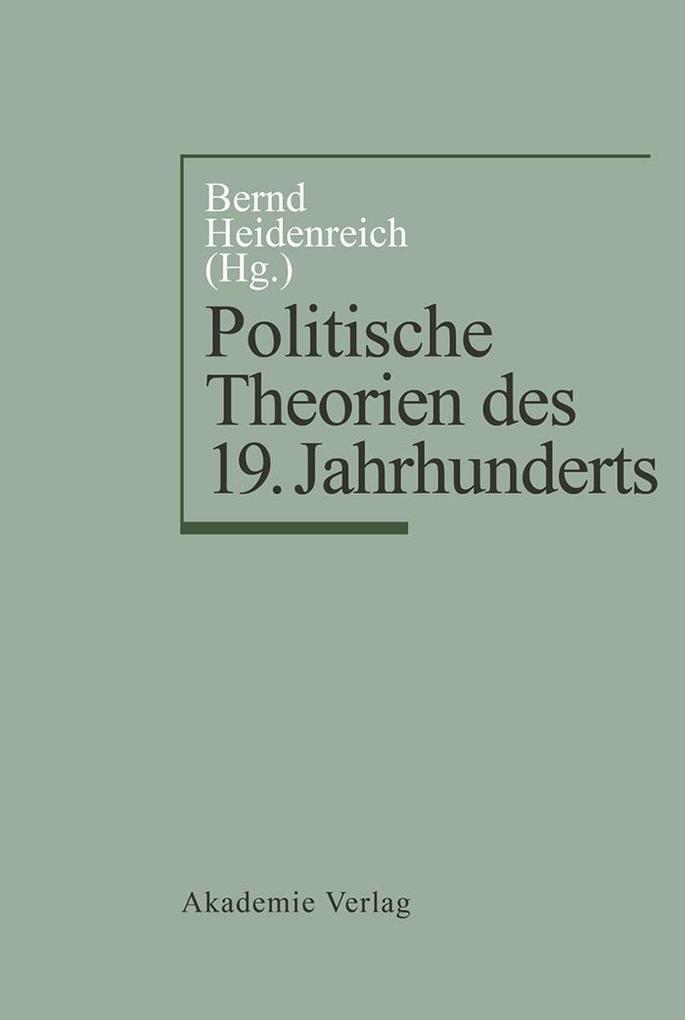 Politische Theorien des 19. Jahrhunderts als eBook pdf