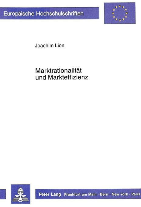 Marktrationalität und Markteffizienz als Buch (kartoniert)