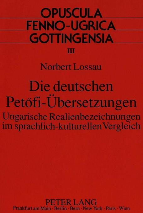 Die deutschen Petofi-Übersetzungen als Buch (kartoniert)