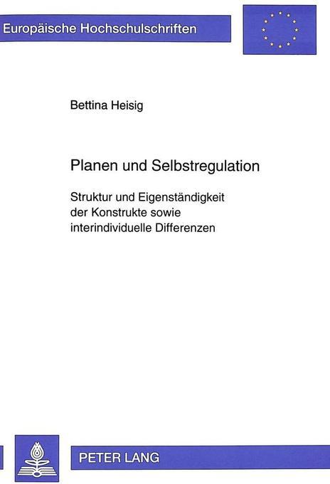 Planen und Selbstregulation als Buch (kartoniert)