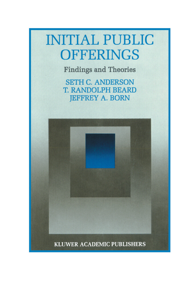 Initial Public Offerings: Findings and Theories als Buch (gebunden)