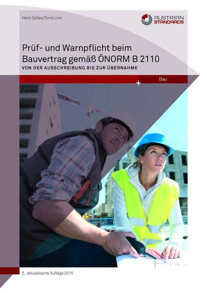 Prüf- und Warnpflicht im Bauvertrag gemäß ÖNORM B 2110 als eBook epub