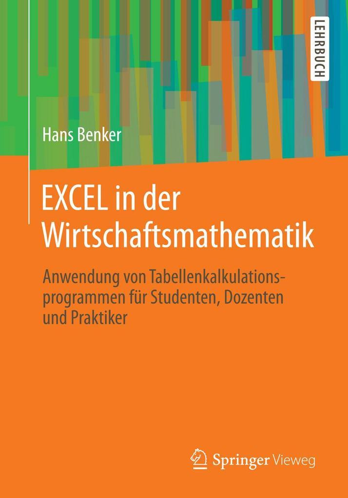 EXCEL in der Wirtschaftsmathematik als eBook pdf