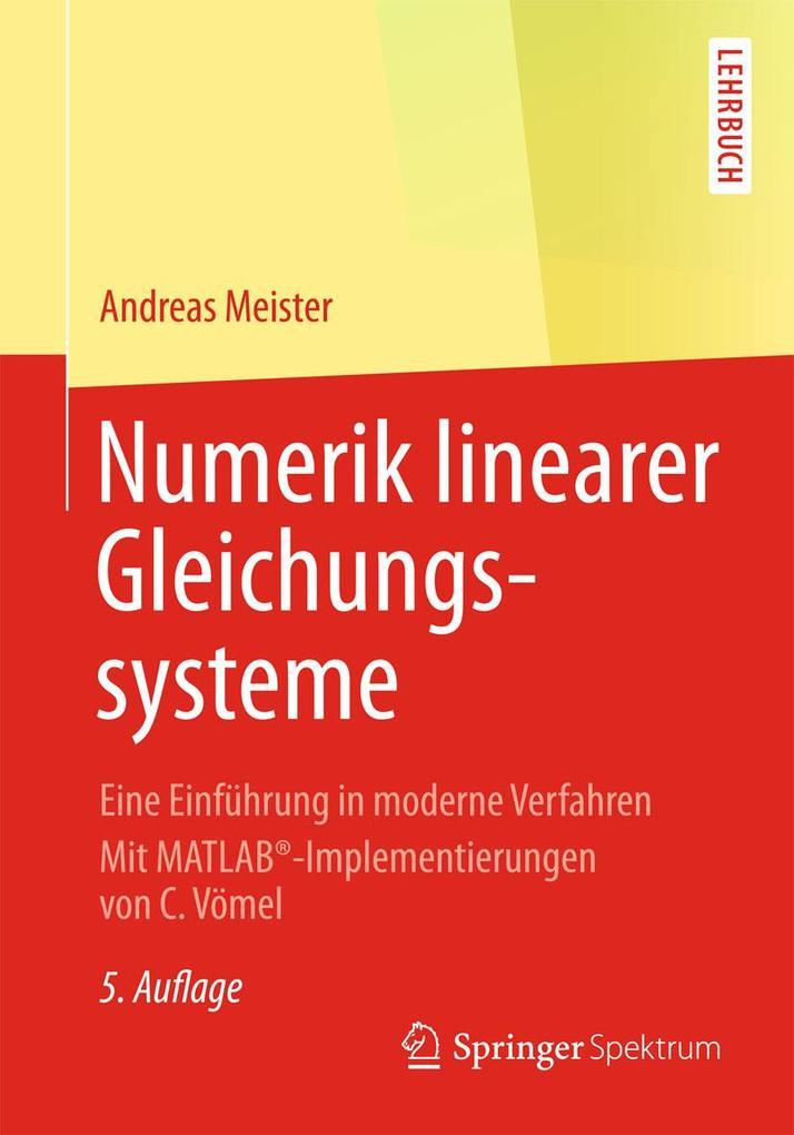 Numerik linearer Gleichungssysteme als eBook pdf