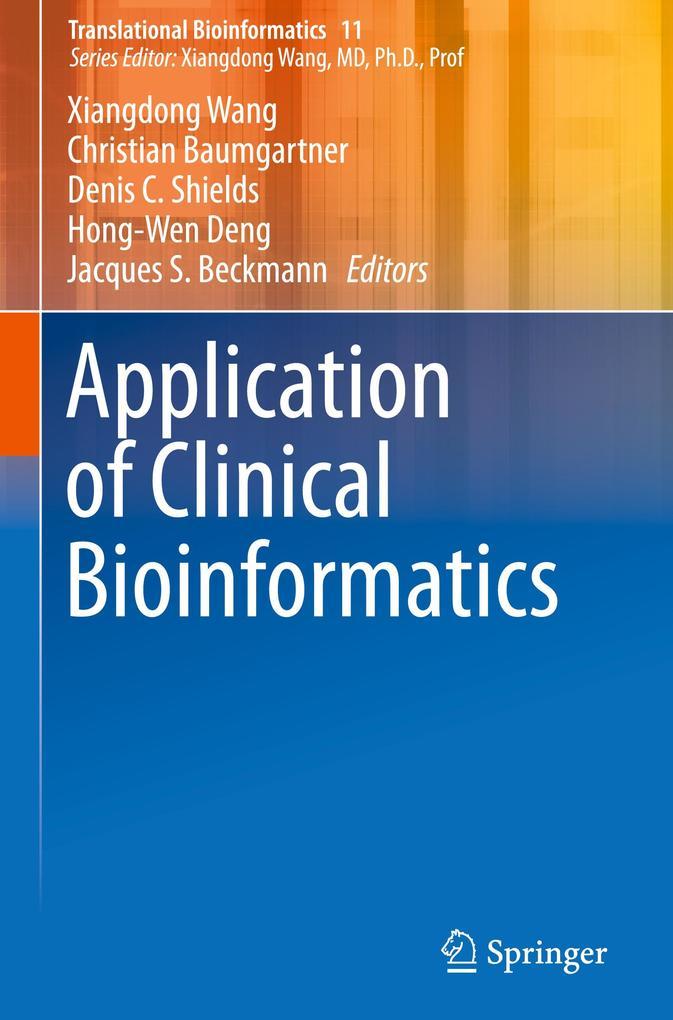 Application of Clinical Bioinformatics als Buch (gebunden)