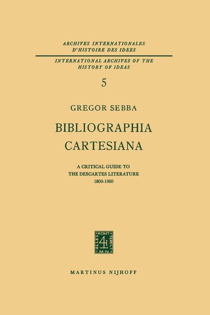 Bibliographia Cartesiana als Buch (kartoniert)