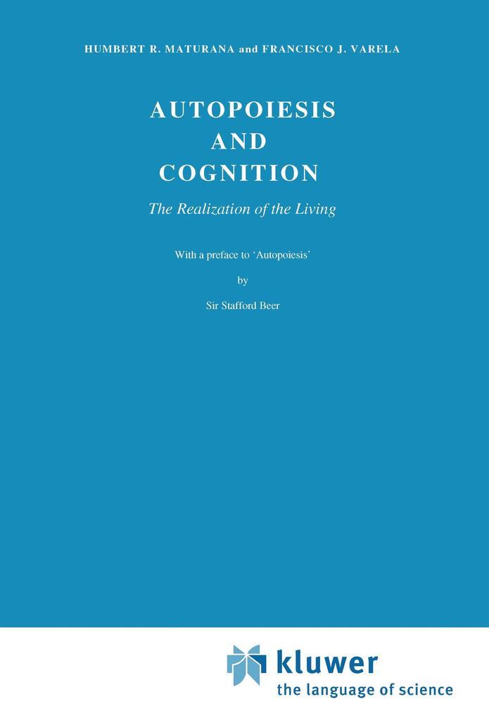 Autopoiesis and Cognition als Buch (kartoniert)