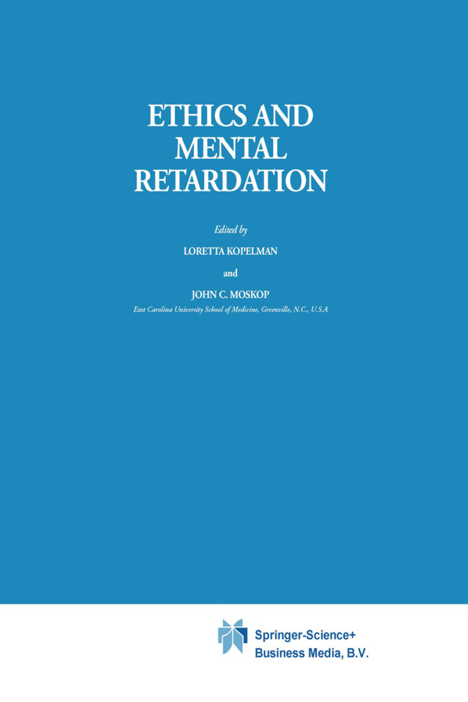 Ethics and Mental Retardation als Buch (gebunden)