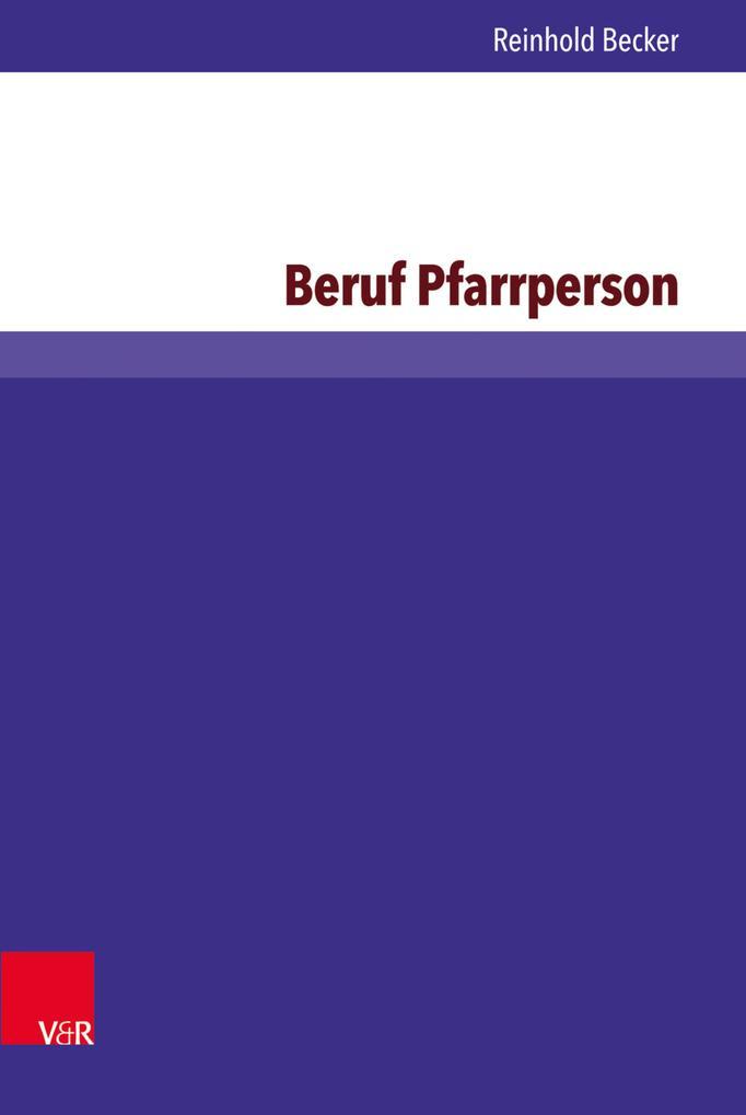 Beruf Pfarrperson als eBook pdf