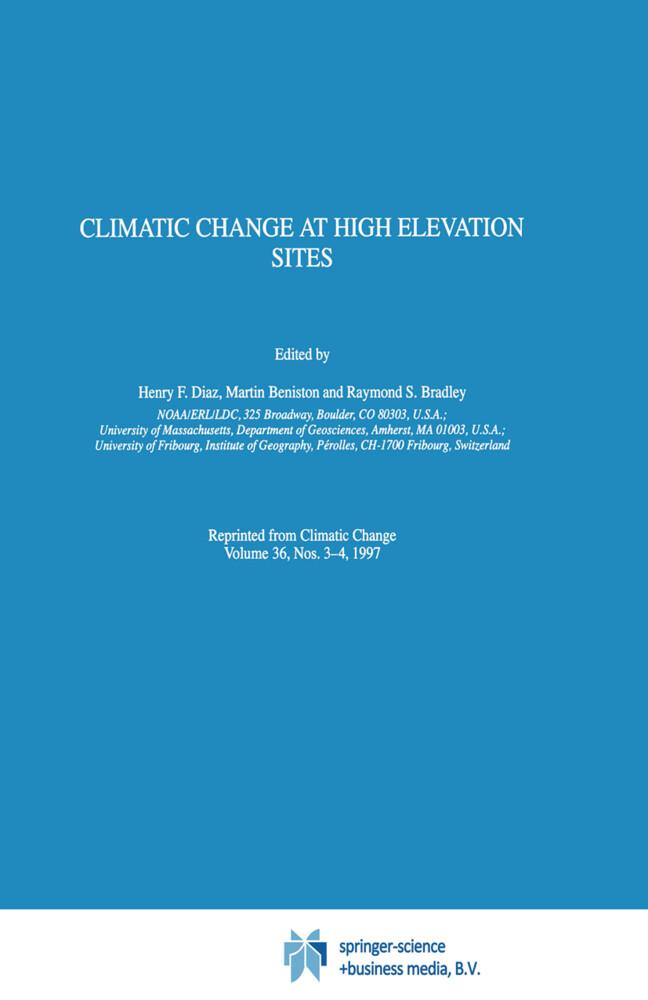 Climatic Change at High Elevation Sites als Buch (gebunden)