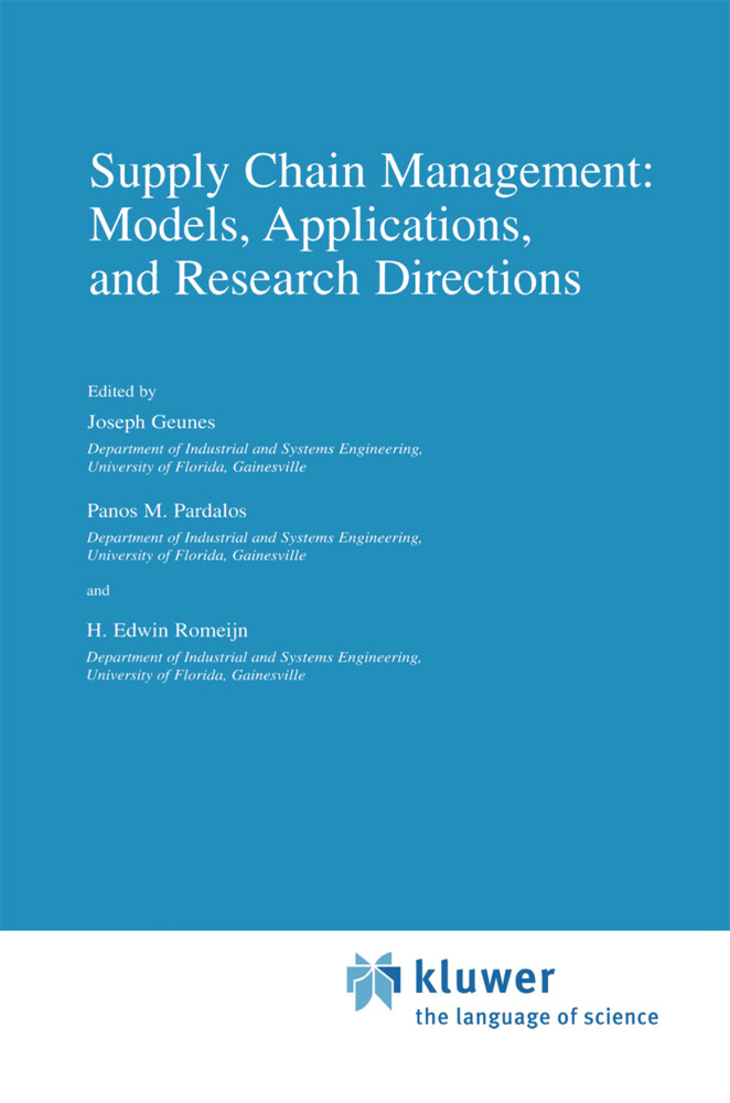 Supply Chain Management: Models, Applications, and Research Directions als Buch (gebunden)