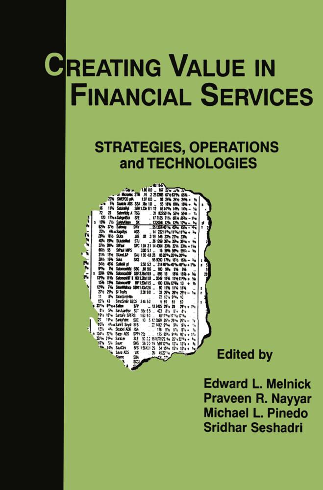 Creating Value in Financial Services als Buch (gebunden)