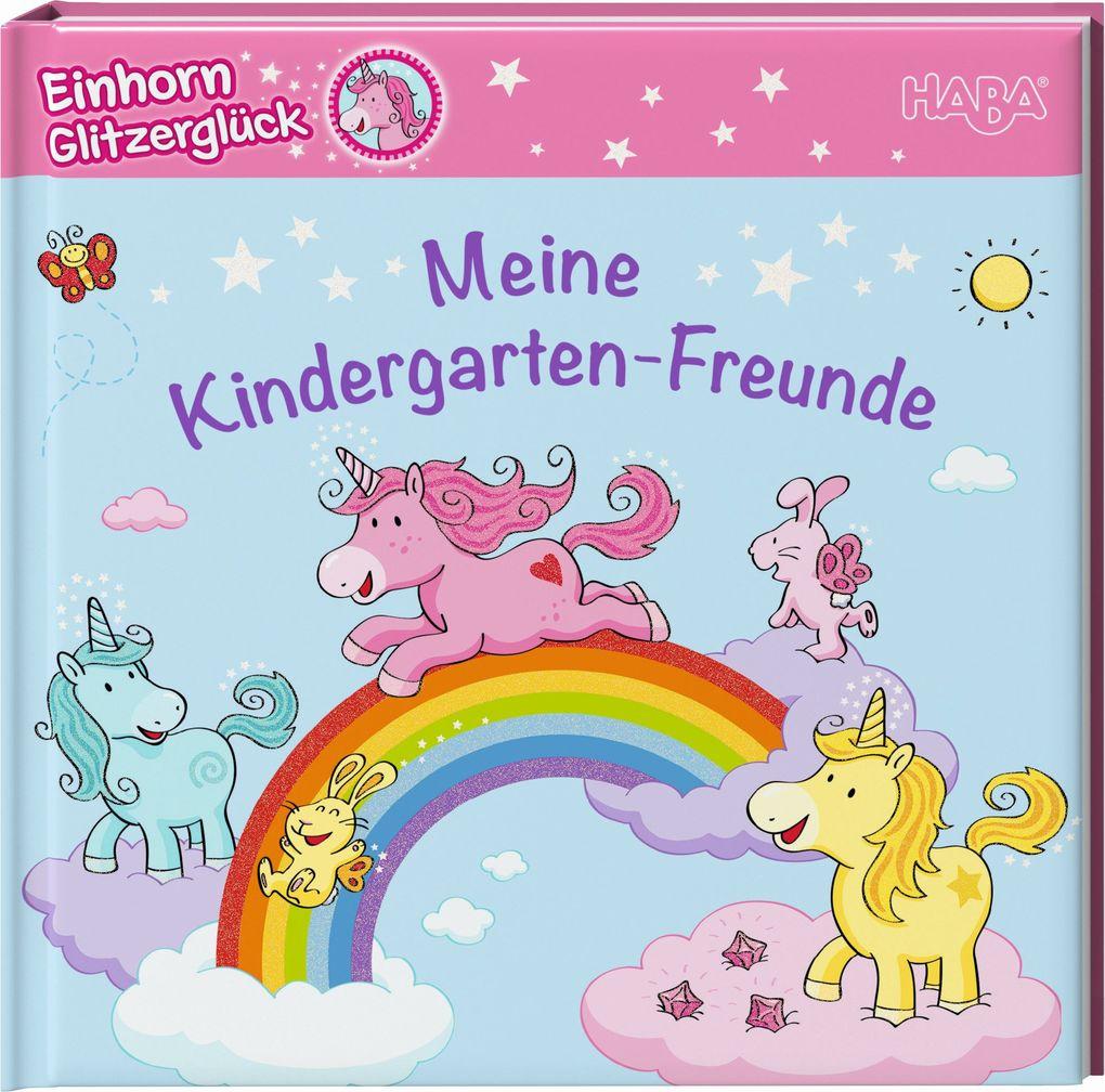 Einhorn Glitzerglück - Meine Kindergarten-Freunde als Buch (kartoniert)