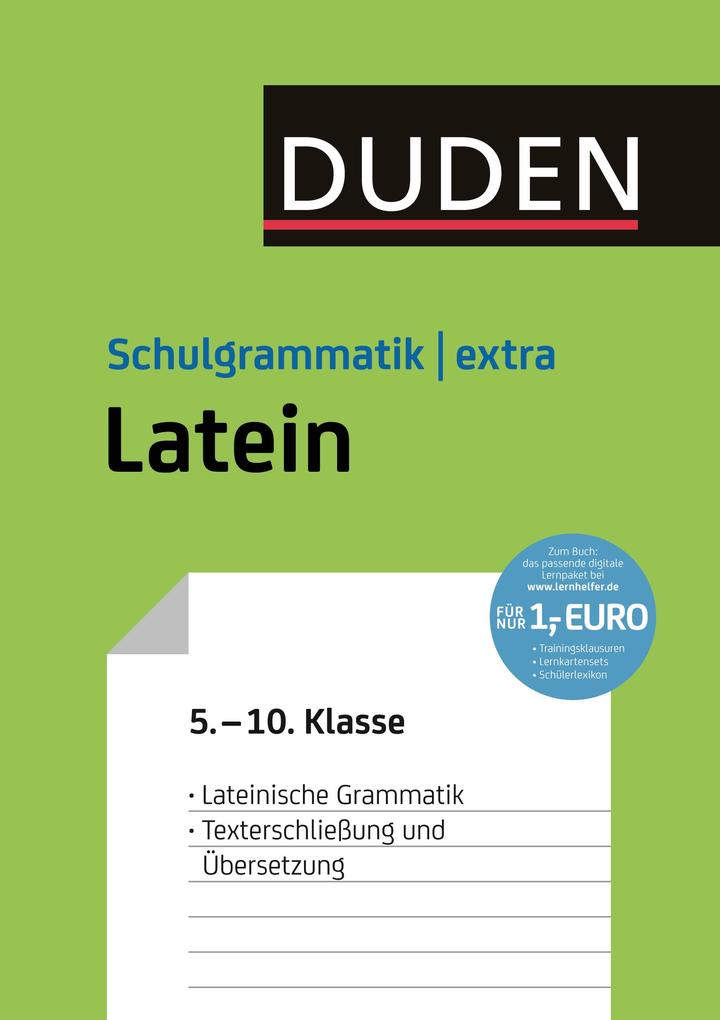 Duden Schulgrammatik extra - Latein als eBook epub