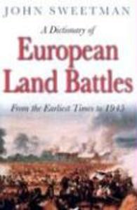 A Dictionary of European Land Battles als Taschenbuch