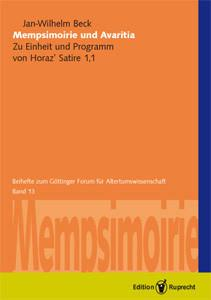 Mempsimoirie und Avaritia als eBook pdf