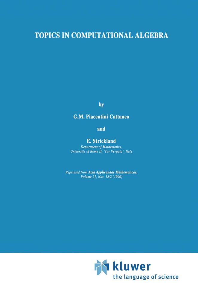 Topics in Computational Algebra als Buch (gebunden)