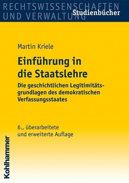Einführung in die Staatslehre als Buch (kartoniert)