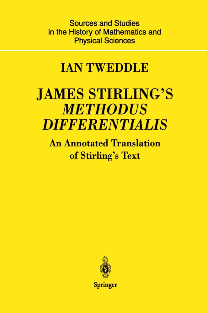 James Stirling's Methodus Differentialis als Buch (gebunden)