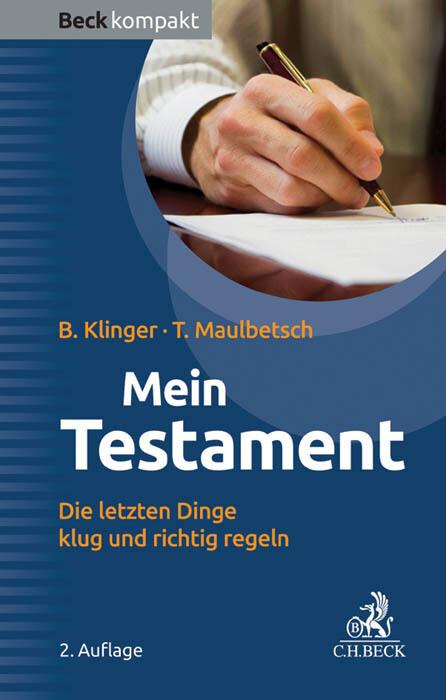 Mein Testament als Buch (kartoniert)