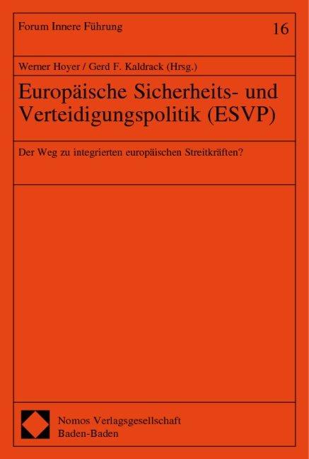 Europäische Sicherheits- und Verteidigungspolitik (ESVP) als Buch (kartoniert)