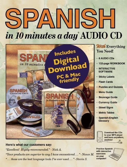 SPANISH in 10 Minutes a Day (R) Audio CD als Buch